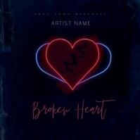 Broken Heart Mixtape/Album Cover Art Template Portada de Álbum