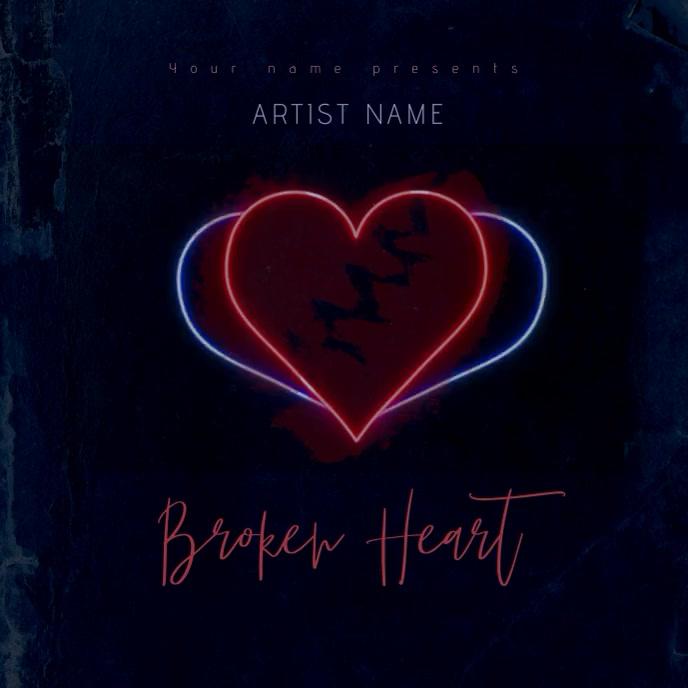 Broken Heart Mixtape/Album Cover Art Template