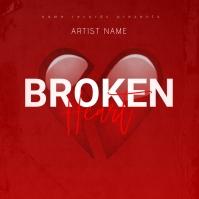 Broken Heart Mixtape/Album Cover Art Template Albumhoes