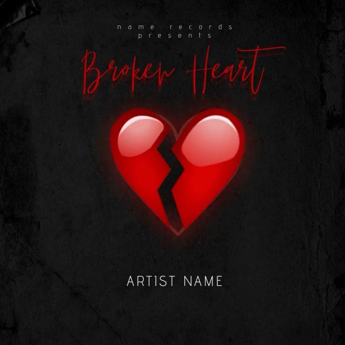 Broken Heart Mixtape Cover Video Template Albumhoes