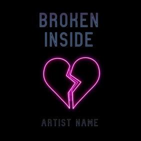 Broken Heart neon album art video template