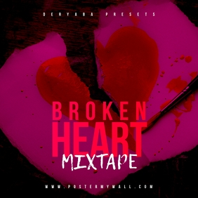 Broken Heart Pinky Mixtape CD Cover