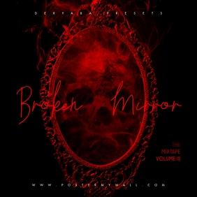 Broken Mirror Glass Red Mixtape CD Cover