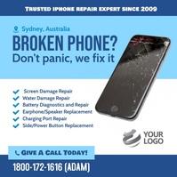 Broken Phone repair flyer instagram template