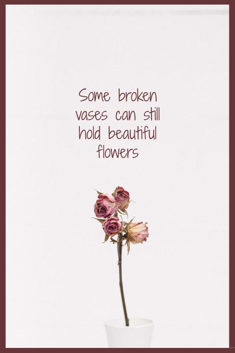 Broken Vase Quote Poster