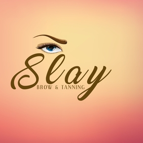 Brow & Tanning Salon Logotipo template