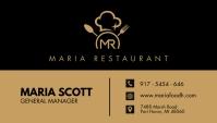 Brown and Black Restaurant Busines Card Desig Visitenkarte template