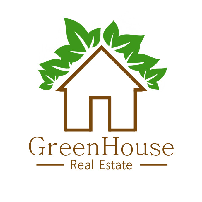 Brown and Green Real Estate Logo