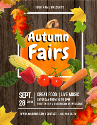 Brown and Orange Autumn Fair Flyer