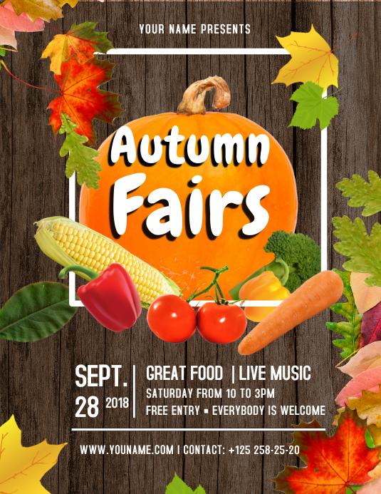 Brown and Orange Autumn Fair Flyer