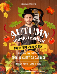 Brown Autumn Music Festival Flyer