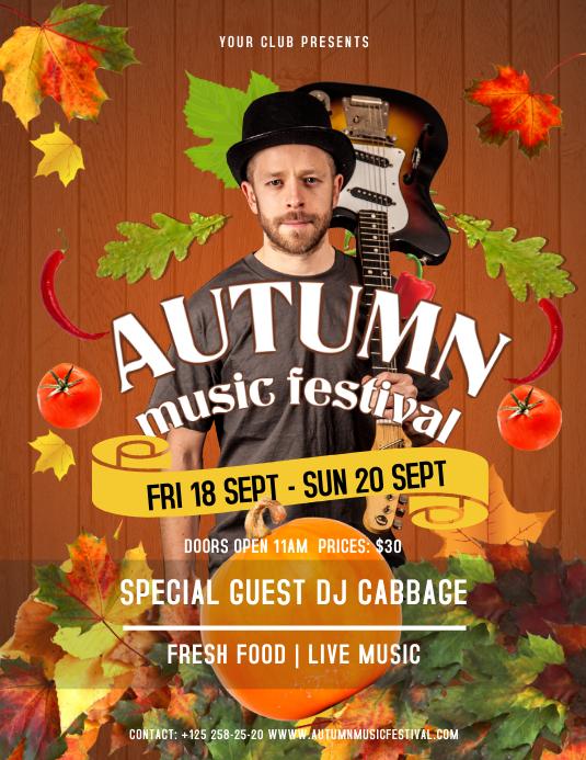 Brown Autumn Music Festival Flyer