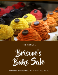 Brown Bake Sale Flyer Template