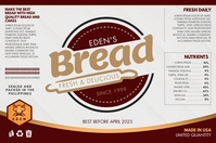 Brown Bread Baking Shop Label Template Etiqueta