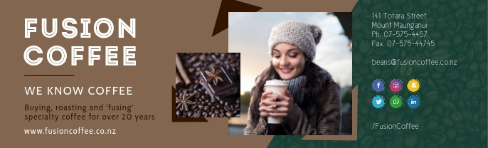 Brown Cafe LinkedIn Background Image template