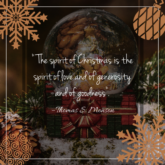 Brown Christmas Quote Instagram template