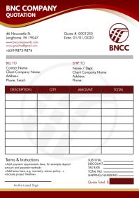 Brown Corporate Enterprise Invoice Quote A4 T template