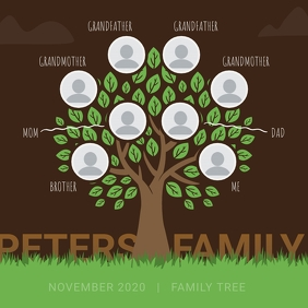 Brown Family Tree Instagram Image