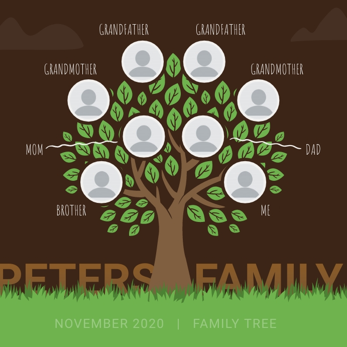 Brown Family Tree Instagram Image template