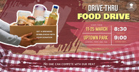 Brown Food Drive Campaign Facebook Post Templ template