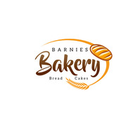 Brown Fresh Baking Bakery Logo Template