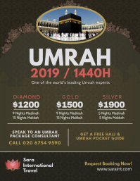 Brown Hajj and Umrah Package Flyer