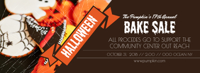 Brown Halloween Bake Sale Facebook Cover