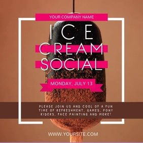 Brown Ice Cream Social Instagram Video template