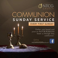 Brown online communion service instagram vide Square (1:1) template