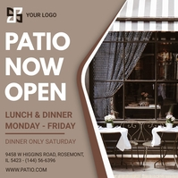 Brown Patio Restaurant Advertisement Instagram Post template