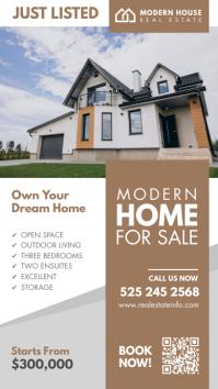 Brown Real Estate Instagram Story Design template
