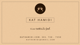 Brown Restaurant Business Card Template