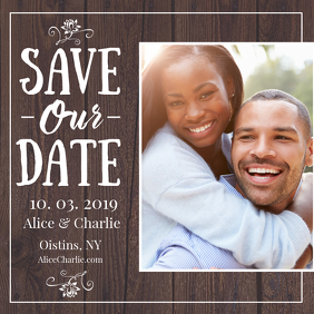 Brown Save the Date Instagram Post