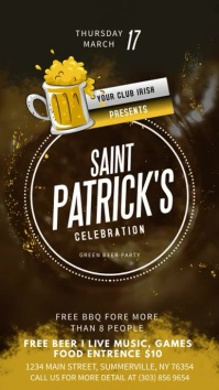 Brown St Patrick's Day Digital Display
