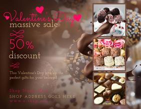 Brown Valentines Sale Flyer Template
