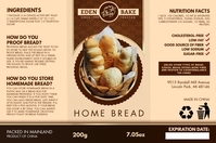 Brown Wheat Bread Packing Label Template Etiqueta
