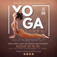 Brown Yoga Class Instagram Post Template