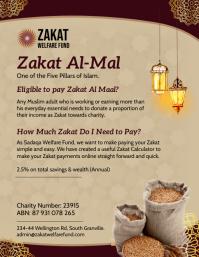 Brown Zakat payment flyer Løbeseddel (US Letter) template