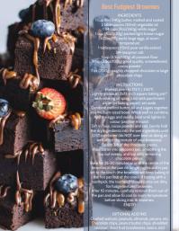 Brownies Recipe Flyer Template