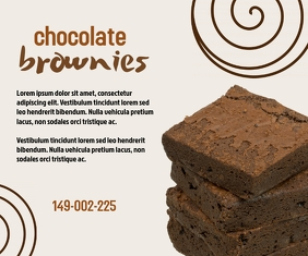 Brownies Social Template Mellemstort rektangel