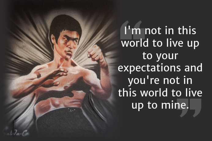 Bruce Lee Quote template
