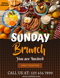Brunch,ladies brunch,christmas brunch,event Flyer (US Letter) template