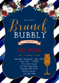 Brunch and bubbly shower invitation