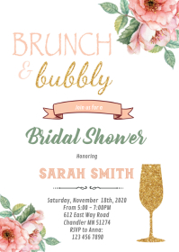 Brunch and Bubbly showerInvitation
