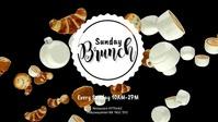 Brunch Breakfast Buffet Restaurant Ad cover Facebook-omslagvideo (16: 9) template