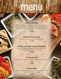 Brunch Breakfast dinner Specials Menu flyer Template