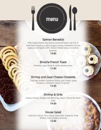 Brunch Breakfast dinner Specials Menu flyer Template