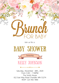 Brunch for baby shower invitation
