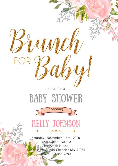 Brunch for baby shower invitation