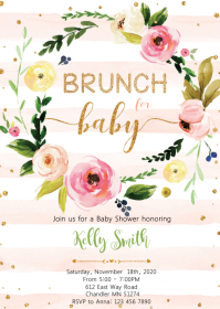 Brunch for baby shower party invitation